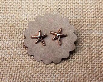Rose Gold Starfish Stud
