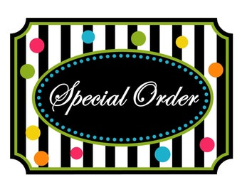 Special order for additional items