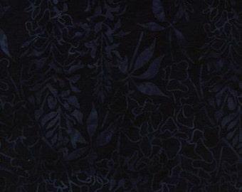 "Island Batik Black Silver Print 112cm wide x 25cm (44"" x 10"" approx)"