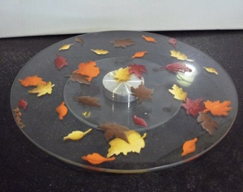 Fall Leaves Lazy Susan
