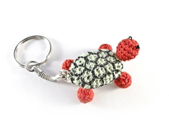 Crochet Keychain : Crochet Turtle Keychain [0003bk] Keyring, Keychain, Funny Keychain ...