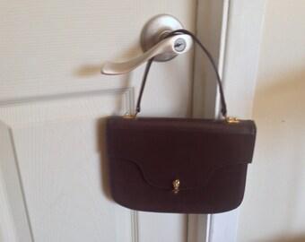 Vintage, Chocolate Brown Leather Capri - Jan Eddie of Montreal Handbag