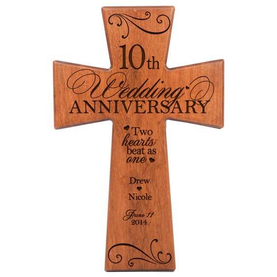 10th Wedding Anniversary Gift Husband : ... 10th wedding anniversary Wall Cross 10th anniversary for Husband 10th