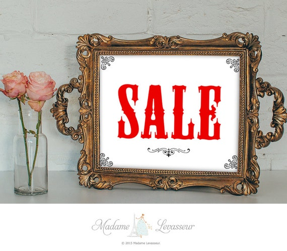 Printable Sign For Sale: SALE Signs Printable Sign Sales Signs Instant Download Signs