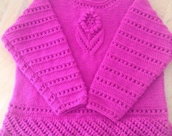Girls jumper with cute flower design