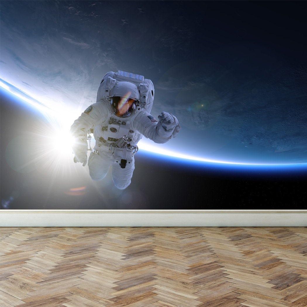 Wall mural astronaut take a spacewalk peel and stick for Astronaut wall mural