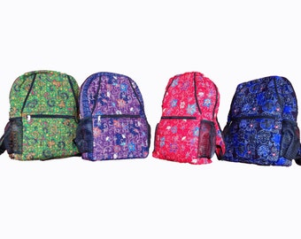 Quilted Batik Backpack with Lining