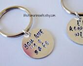 Couples keychains you keep me safe i'll keep you wild