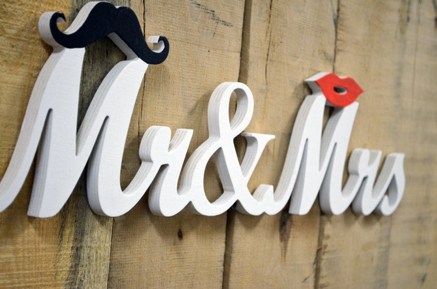 Mr Mrs Sign And Wedding Signs For Sweetheart