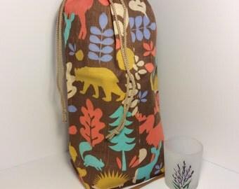 Medium Drawstring Bag - Woodsy