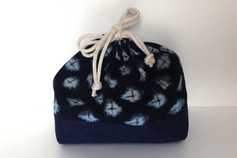 vintage indigo print bento bag drawstring bag by sorabento. Black Bedroom Furniture Sets. Home Design Ideas