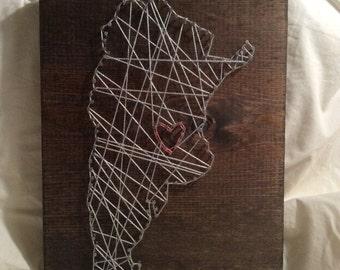 Nail String Art-Argentina