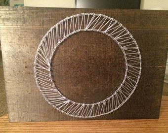 Nail String Art-Letter O