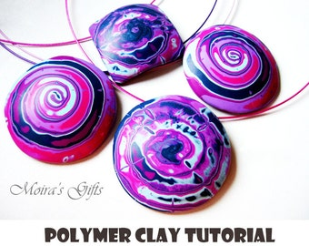 Polymer clay sea shell tutorial (english & french), jewelry tutorial, DIY jewelry, Fimo tutorial, Sculpey tutorial, Pardo tutorial