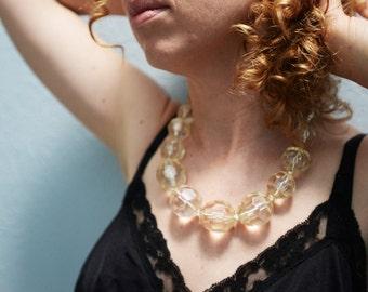 Oversized Plastic 'Glass' Bead Necklace