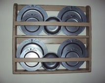 Handmade Primitive Hanging Wall Plate Shelf in Your Choice of Color and Finish