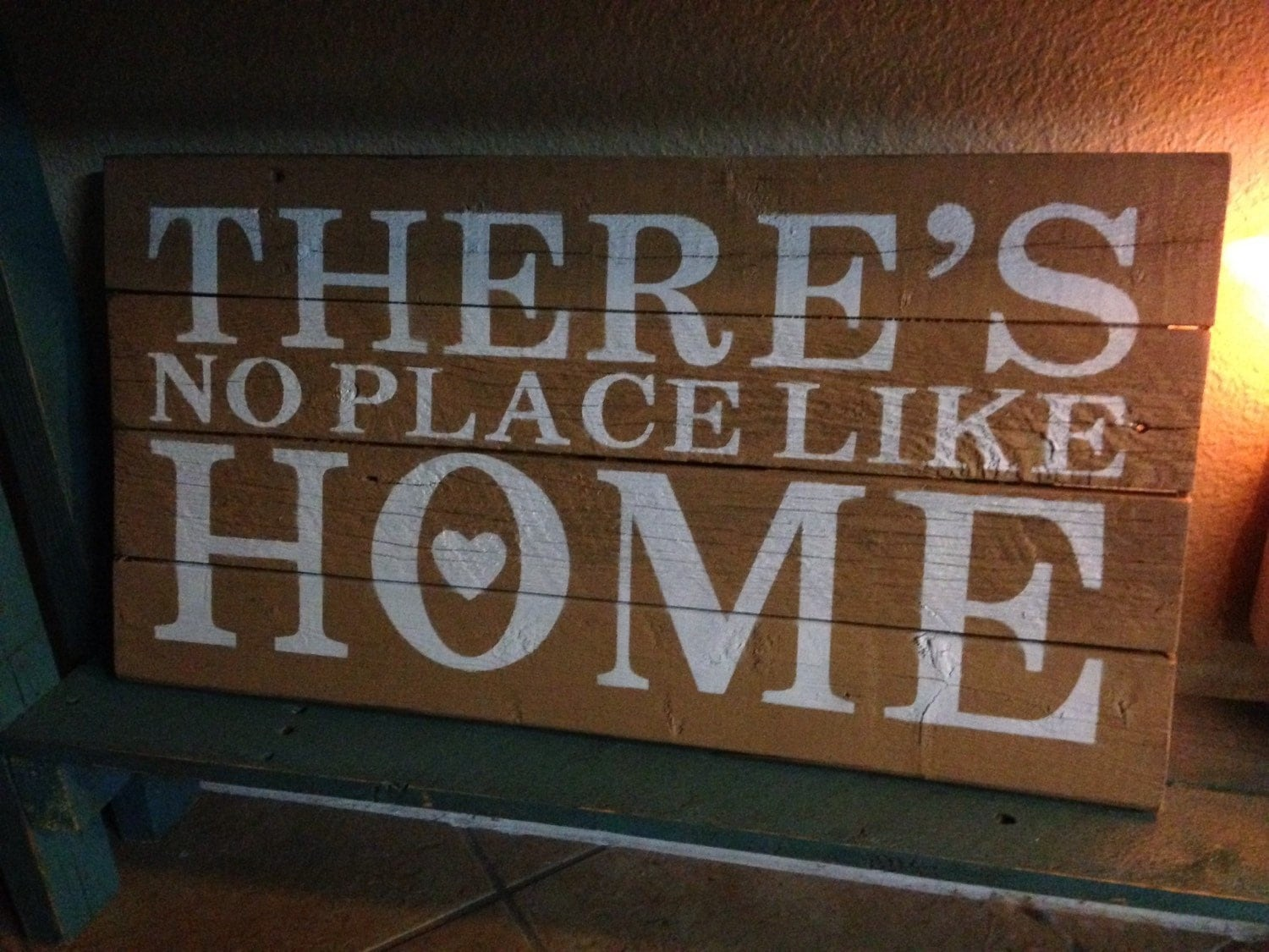 There's No Place Like Home sign by RusticGracesbyRobyn on Etsy