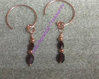 Genuine Garnet Earrings