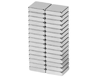 1/2 x 1/2 x 1/8 inch (12.7 x 12.7 x 3.18 mm) Craft Neodymium Rare Earth Magnetic Block, Strong Block Magnets, N48 (30 Pack)