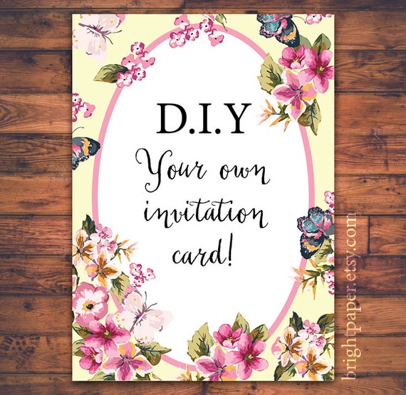 items similar to diy floral wedding birthday celebration