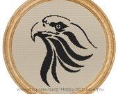 Cross Stitch Pattern PDF eagle silhouette DD0090