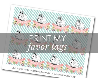 Printing for any Favor Tags