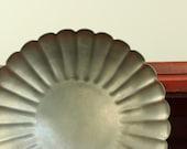 Vintage Pewter Bowl Scalloped Edge Alvin Pewter U.S.A.