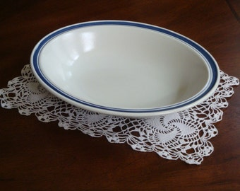 Royal Doulton England Biscay Blue Oval Serving Bowl!