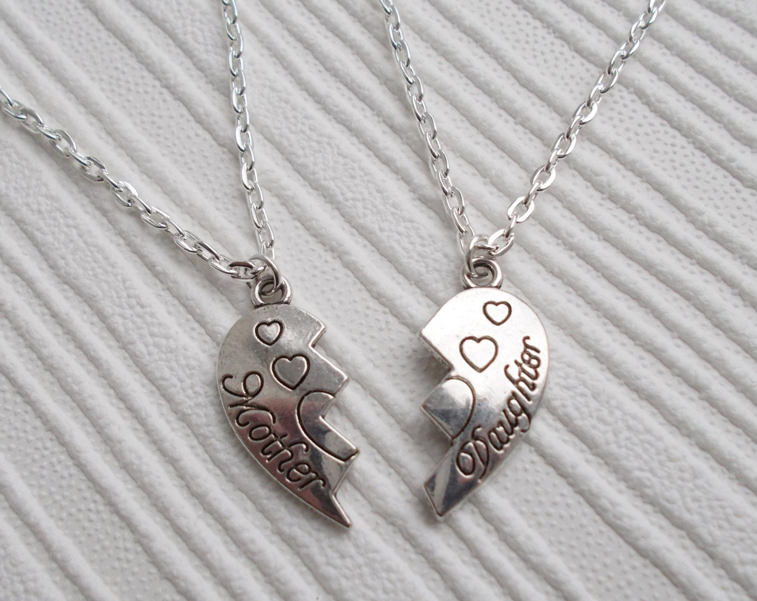 Mother And Daughter Necklace Set Mum And Daughter Jewelry