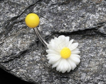 Cutesy Daisy Belly Button Ring