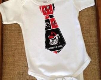 Tie Onsie, Team Baby Boy Appliqued Tie Onsie, Choose Your Team, Choose Your Size, 0-3mo 3-6mo 6-12mo, Newborn Onsie, Appliqued Tie