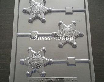 Sheriff's Badge Lollipop Chocolate Mold
