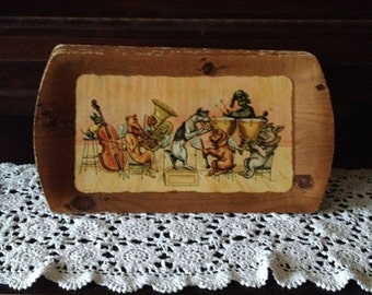 Lot of 7 KANINE KAPADES 1954 The Concert Bar Tray's By Kentley w/ Dogs Playing Instruments