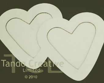 Double Heart Frame Kit, Tando Creative, greyboard, chipboard, Papercrafts, Altered Art, Wedding