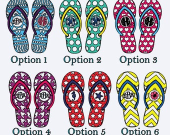 Monogram Flipflop Decal