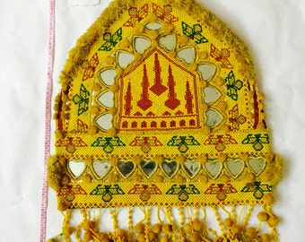 Kuchi Afghan Tribal Vintage Handmade Wall Hanging Tapestry Decor Authentic Des F