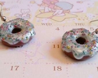 Donut earrings blue