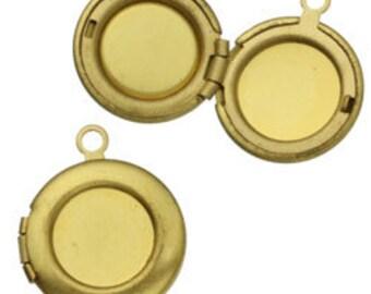 14mm Brass Round Locket (12pcs)