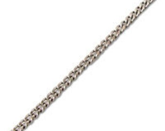 0.8mm Diamond Cut Curb Chain (1 Foot)