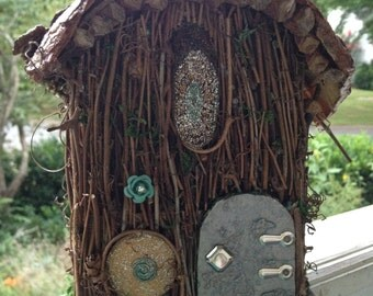 Two Story Twig and Twirly Faerie House