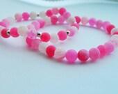 Pink Druzy Sterling Silver Bracelets - Druzy - Gemstone Bracelet - Silver Bracelet - Pink Jewellery - Jewelry - Handmade - Jewellery