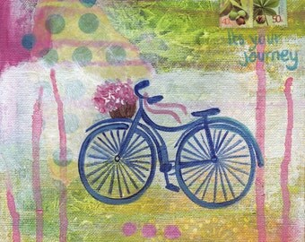 It's your journey ~ Print from original multi-media painting by Samantha Louise