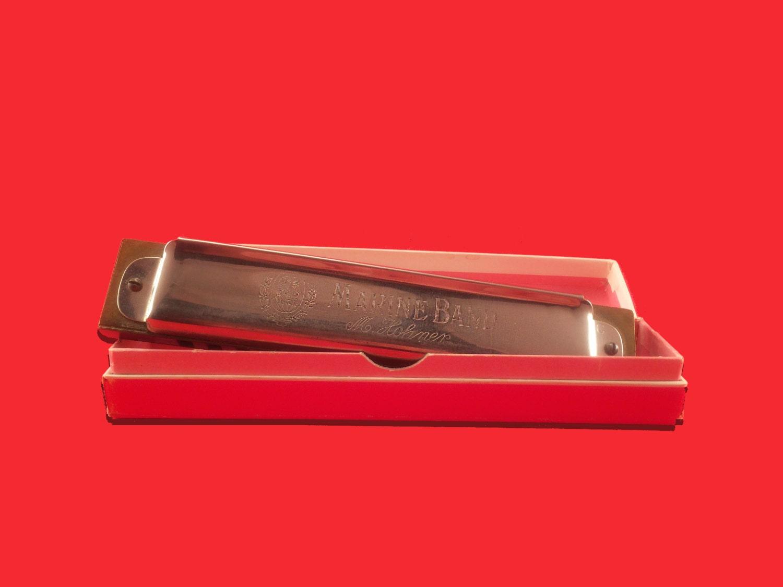 m hohner marine band no 365 harmonica with original box. Black Bedroom Furniture Sets. Home Design Ideas