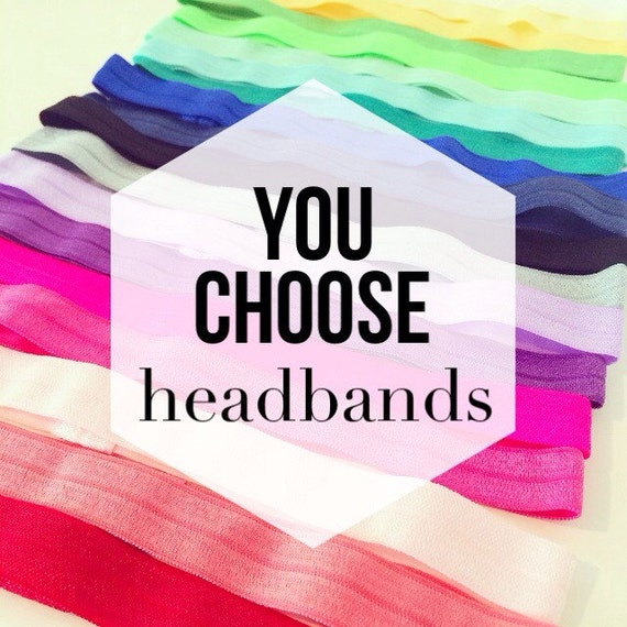 YOU CHOOSE Elastic Headbands for Baby Toddlers Girls Adults | Solid Color Headbands, Workout Headbands, Adult Headbands, Plain Baby Headband