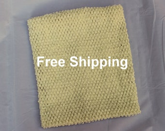 Lined Tutu Top - Ships Free - Ivory Crochet Top 12 X 10 inches Lined - Ivory Tutu Top Lined - Free Shipping - Waffle Crochet Top