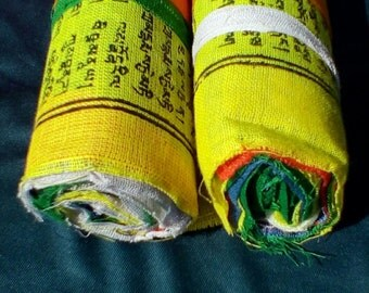 Block Printed,Home made Tibetan Prayer Flag, 25 Prayer Flags, Prayer Flag, Prayer Flag Bundle,Prayer Flags, Prayer Flag Roll