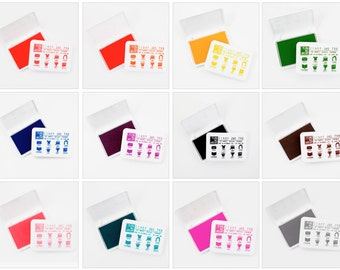 Ink Pads Rubber Stamp, All Surface Ink Pads By The Yellow Owl Workshop, Permanent Waterproof Inks