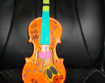 Free Your Mind Hand-painted violin