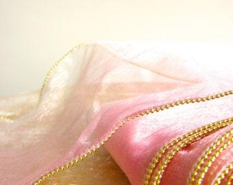 Vintage Pink Sheer Cake Ribbon
