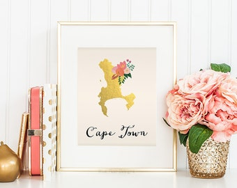Cape Town Map Cape Town Art Cape Town Poster Cape Town Print Cape Town Printable Cape Town Postcard Printable map art City Maps Cape Town
